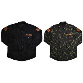 Kit 2 Jaquetas Militares Preta E Camuflada Camisologia