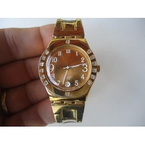 5803eb89776 Relogio Swatch Dourado Falso - Relógios no Mercado Livre Brasil