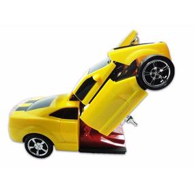 Kit 3 Carrinhos Camaro Vira Robô Com Luz E Som Transformers