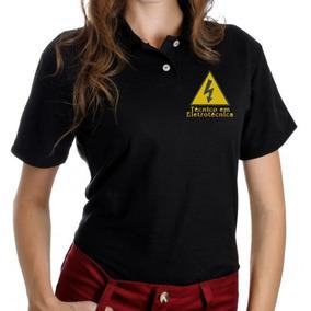 4 Camisa Polo Feminina Bordada - Uniforme Seu Logo Na Frente