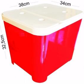 Porta Ração Cães Gatos Container 15kg Vermelho Furacão Pet