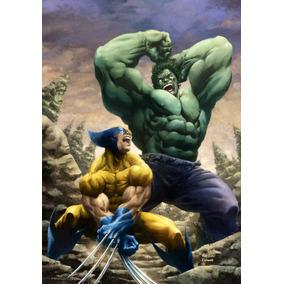 Set Hulk Vs. Wolverine - Simbolo (arg-1996) + Hulk Hasbro