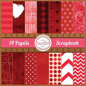 2f5115c6eda Papel De Scrapbook Poa Vermelho - Acessórios para Scrapbooks Digital ...