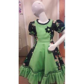 Vestido Huasa Nuevo Talla 8 Confección Propia