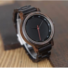 Relógio Unissex Bambu Analógico Bobo Bird P10 Dark + Frete