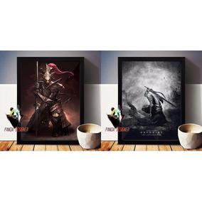 2 Quadros Dark Souls Artórias Ornstein 45x35 Com Vidro