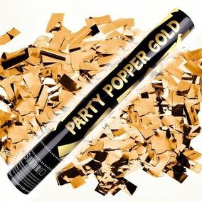 Cañon Lanzador De Confetti Dorado Oro Bodas 10 M Bazooka