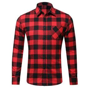9d9a451ea Camisa Xadrez Masculina Vermelha - Camisa Manga Longa Masculino no ...