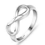 Anel De Prata 950 Simbolo Infinito Feminino Presente