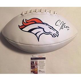 44efefadce Cj Anderson Firmó Con El Logo De Los Broncos Blancos De Denv