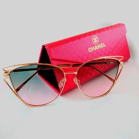 50f5d0c5f2c85 Oculo Chanel Replica De Sol Outras Marcas - Óculos no Mercado Livre ...
