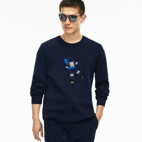 Super Exclusiva Sudadera Crew Neck Lacoste Astronaut 2xl