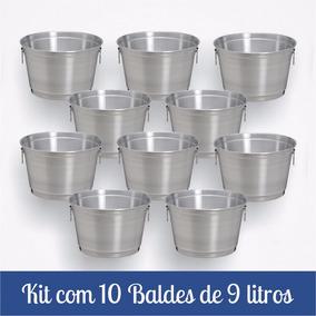 Kit Com 10 Balde De 9 Litros E 30 Baldes De 6 Litros b45c0e019d603