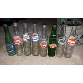 Coleção Com 8 Garrafinhas Antigasantigas De Refrigerantes