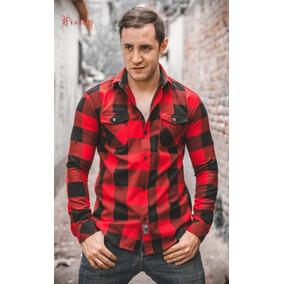 Camisa Leñador Roja-v-colores Uriel Martens Lomas Verdes