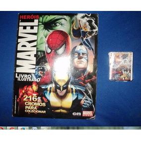 Lote De 139 Figurinhas Marvel Com Album Em Otimo Estado