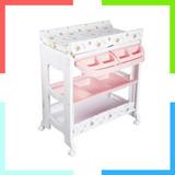 Bañeras Para Bebe 3 En 1 Con Mueble Rosado Organizador Ebaby