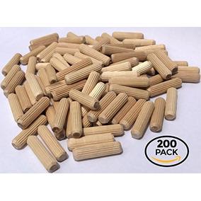 200 Paquete De 3/8 X 1 1/2 Espiga De Madera Pernos De Made