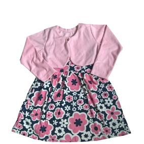 Vestido Infantil Estampado Com Casaco Duduka - Original