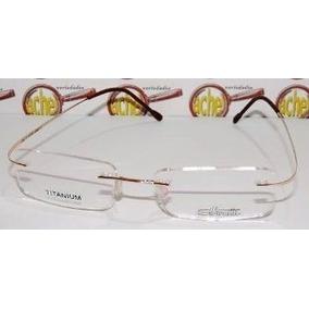 Armação Oculos De Grau Titanium Sem Aro Dourada Silhouette - Óculos ... 355ea711a5