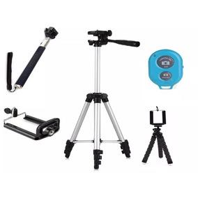 Tripé Celular Camera 1,30 M + Kit Self + Mini Tripé Flexível