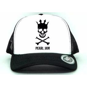 Bone Aba Curva Trucker Pearl Jan Top Skull 1f2ac959c95