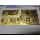 Billetes Lamina De Oro, Coleccion, Usa. Vhcf