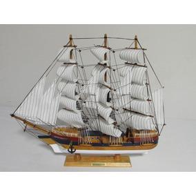 Barco Navio Decorativo Caravela De Madeira 56cx47h Hq8660-60