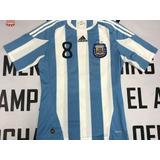 Camiseta De La Seleccion Argentina Año 2010 8 Veron Tenelaaa 8b2e4ecd1a4fb