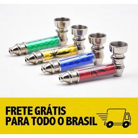 Cachimbo/ Pipe De Alumínio Acrílico +15 Telas *frete Grátis*