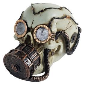 Crânio Caveira Máscara De Oxigênio Mergulhador Decorativo