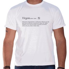 Camiseta Masculina Sandro Clothing Signo Virgem Branca