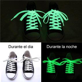 Par De Agujetas Fluorescentes Fosforescentes Blancas De 1.2m
