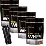 4 X 100% Pure Whey 825g - Refil - Probiotica - Chocolate
