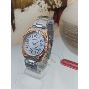 660153aeb76 Pulseira Aco Cirurgico Dourado Feminino Mondaine - Relógios De Pulso ...