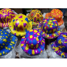 50 Sombrero Bombin Neon Plastico Fiesta Boda Mayoreo Barato f31e1c3b310