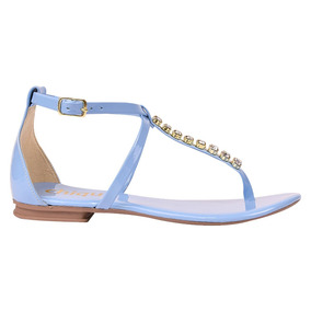 f07b6a3f5 Sandalias Femininas Rasteiras Azaleia - Sapatos Azul claro no ...