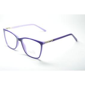 eca6e72c8d5f5 Armaçao De Oculos Feminino Quadrado - Óculos Azul no Mercado Livre ...