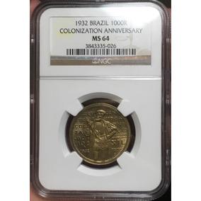 V139 - 1000 Réis 1932 Ngc Ms64