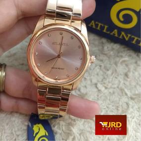 Relógio Feminino Atlantis Rose Gold B3477
