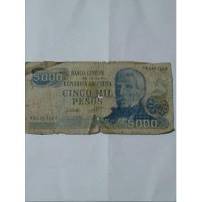 Antiguo Billete Serie A Cinco Mil Pesos