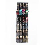 24 Bolsillos Sobre La Puerta Para Colgar Zapatos Organizad