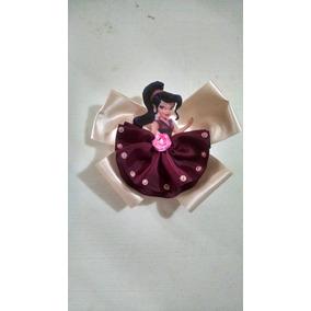 Set De 6 Moños De Princesas Y Hadas Disney