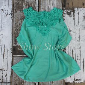 Blusa Renda Guipir - Blusas para Feminino no Mercado Livre Brasil f8057412bc0