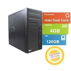Computador Tob Fast Amd Dual Core/hd Ssd 120gb/4gb/gabin