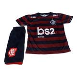 Uniforme Conjunto Infantil Flamengo Novo Modelo 2019