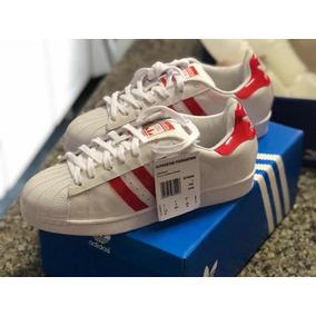 3cf4056ac67 Tênis adidas Superstar Branco Com Vermelho - Toledo Imports
