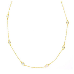 881dd3bb6f3f3 Colar Tiffany Tri Ponto De Luz Ouro 3 Diamantes Fl D Brancos - Joias ...