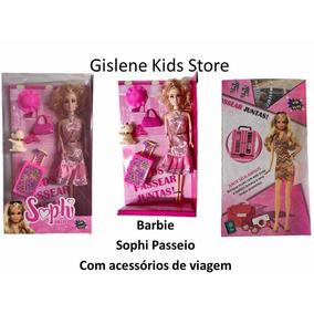 Barbie Sophi Passeio Com Acessórios De Viagem Promoção