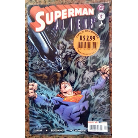 Superman Vs Aliens Ll N° 2 Ed. Mythos / Gibi Quadrinhos Revi